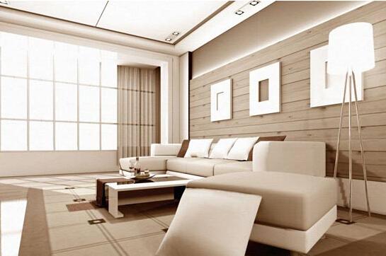 客厅沙发背景墙之木板装饰