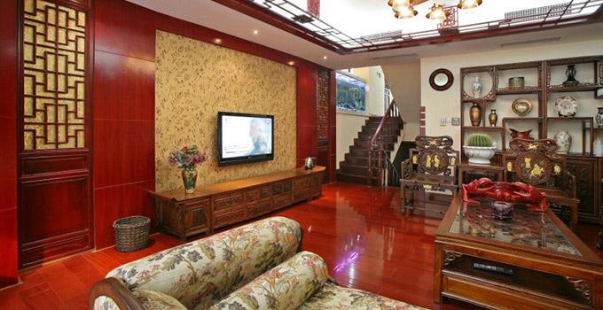 中式电视背景墙的色彩搭配技巧